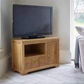Tủ TV góc Bevel gỗ sồi