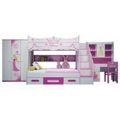 Bộ phòng ngủ bé gái hình công chúa