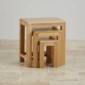 Bộ bàn xếp lồng Oakdale gỗ sồi