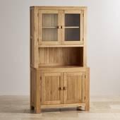 Tủ chén cao Oakdale nhỏ gỗ sồi