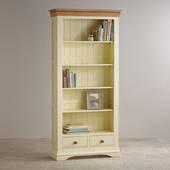 Tủ sách cao Country Cottage gỗ sồi