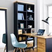 Bộ bàn liền kệ sách NB-Blue