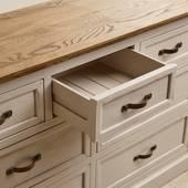 Tủ ngăn kéo 3+4 Seychelles gỗ sồi