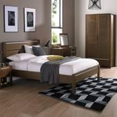 Giường đôi Casa gỗ óc chó