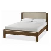 Giường đôi Casa mặt nệm gỗ óc chó