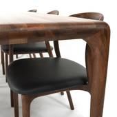 Bộ bàn ăn Latus -  Neva màu walnut