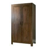 Tủ quần áo 2 cánh Lyon gỗ óc chó