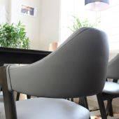 Bộ bàn ăn Emma 4 ghế màu walnut
