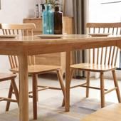 Bộ bàn ăn Pinnstol Anpha màu tự nhiên 4 ghế