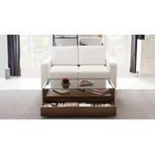 Bàn trà sofa Osaka 1 ngăn kéo màu gỗ tự nhiên walnut decor mở