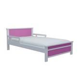 Giường đơn gỗ tự nhiên màu hồng đậm