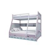 Giường tầng trẻ em thang giữa màu in hoa văn 3