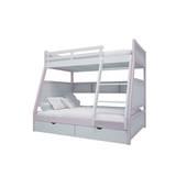 Giường tầng trẻ em thang giữa màu hồng nhạt
