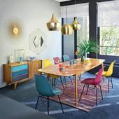 Bàn ăn chữ nhật Portobello phong cách Vintage gỗ tự nhiên