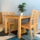 Bàn ăn Rec 4 chỗ mặt gỗ phong cách Modern