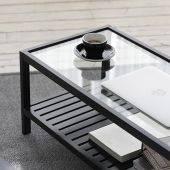 Bàn trà Rect 2 tầng màu đen