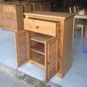 Tủ giầy Victoria 2 cánh lá sách gỗ sồi
