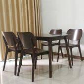 Bộ bàn ăn 6 ghế mặt gỗ Venus