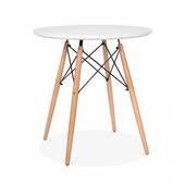 Bộ bàn tròn Eiffel trắng 4 ghế
