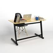 Bộ bàn Rec-Z đen và ghế Eames