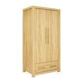 Tủ áo Cuba gỗ sồi 2 cánh nghiêng