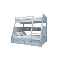 Giường tầng trẻ em thang giữa màu xanh nhạt