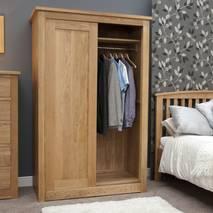 Tủ quần áo cửa lùa 1 khoang IBSD1O gỗ sồi 2