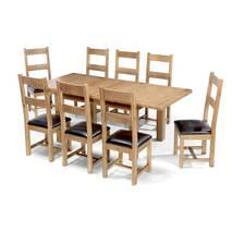 Bộ bàn ăn mở rộng 8 ghế Rustic gỗ sồi 2