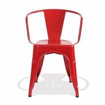 Ghế Tolix có tay màu đỏ 4
