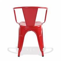Ghế Tolix có tay màu đỏ 2