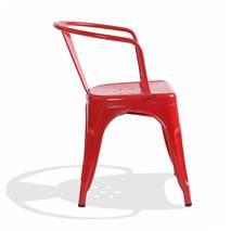 Ghế Tolix có tay màu đỏ 3