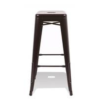 Ghế bar Tolix chân cao màu đen 2