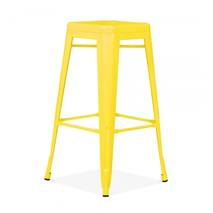 Ghế bar Tolix chân cao màu vàng 3