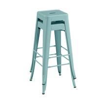 Ghế bar Tolix chân cao màu xanh ngọc 2