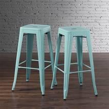 Ghế bar Tolix chân cao màu xanh ngọc 4