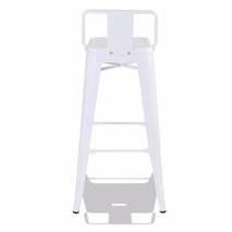 Ghế bar Tolix lưng thấp màu trắng 1