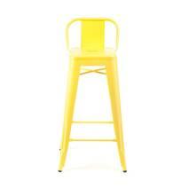 Ghế bar Tolix lưng thấp màu vàng 3