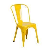 Ghế Tolix lưng cao IB818 màu vàng