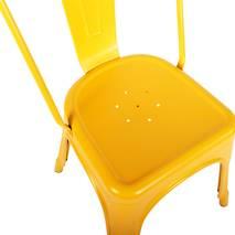 Chi tiết Ghế Tolix lưng cao IB818 màu vàng
