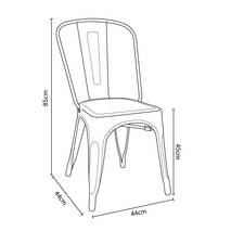 Kích thước ghế Tolix lưng cao IB818 màu vàng