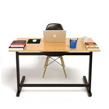 Bộ bàn Oak-Z đen vân sồi và ghế Eames đen 1