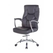 Hình nghiêng ghế Trưởng phòng IB205A tay nhôm ốp PU chân thép mạ cao cấp màu đen