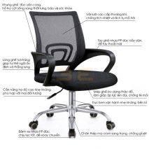 Chi tiết Ghế lưới văn phòng IB517 màu đen
