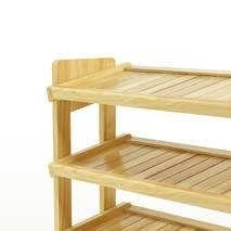 Kệ dép 4 tầng IB480 gỗ cao su màu tự nhiên