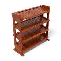 Kệ dép 4 tầng IB480 gỗ cao su màu cánh gián