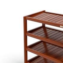 Kệ dép 5 tầng IB563 gỗ cao su màu cánh giánKệ dép 5 tầng IB563 gỗ cao su màu cánh gián