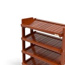 Kệ dép 5 tầng IB580 gỗ cao su màu cánh gián