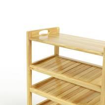 Kệ dép 6 tầng ván IV673 gỗ cao su màu tự nhiên