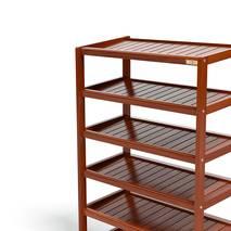 Kệ dép 6 tầng IB673 gỗ cao su màu cánh gián