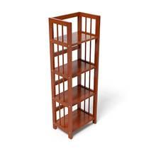 Kệ sách 4 tầng HB440 gỗ cao su màu cánh gián